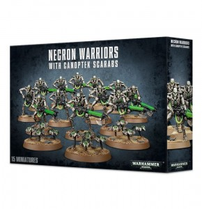 Warhammer 40 000  Necron  - Warrioirs with  Canoptek Scarbs 4906