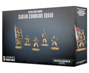 _Warhammer 40 000  Astra Militarum - CADIAN COMMAND SQAD 4709