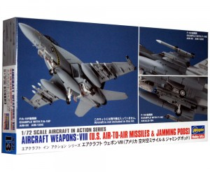 1:72 Akcesoria -  US AIRCRAFT WEAPONS VIII - AIR-TO-AIR MISSILES & JAMPING PODS- Hasegawa 35113 X72-13