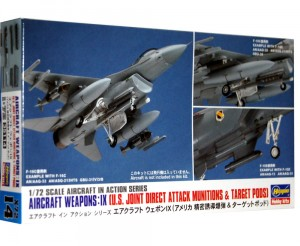 1:72 Akcesoria -  US AIRCRAFT WEAPONS IX - JOIN DIRECT ATTACK MUNITIONS & TARGET PODS - Hasegawa 35114 X72-14