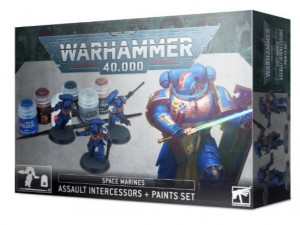 Warhammer 40 000  SPACE MARINES ASSAULT INTERCESSORS PAINT SET - 6011