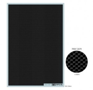 Carbon Pattern Decal (Plain Weave/Fine) - Tamiya 12679