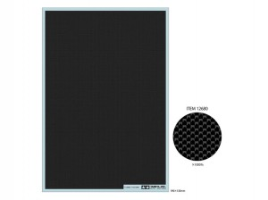 Carbon Pattern Decal (Plain Weave/Extra Fine) - Tamiya 12680
