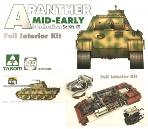 1:35 Pz.Kpfw.V Panther Ausf. A, Mid-Early w/ Full interior – Takom 2098