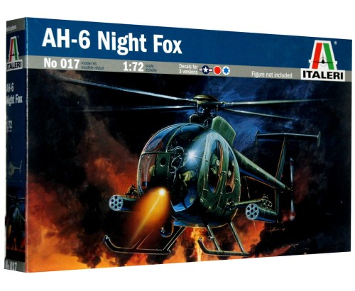 1:72 Hughes MH-6 NIGHT FOX - Amerykański lekki śmigłowiec szturmowy - Italeri 017