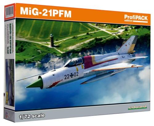 1:72 Mikojan i Guriewicz MiG-21 PFM - Radziecki Samolot Myśliwski - Eduard 70144