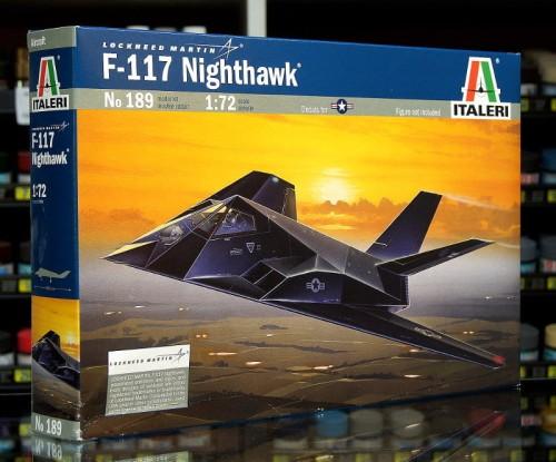 1:72 Lockheed F-117 NIGHTHAWK - Amerykański Samolot Bombowy - Italeri 189