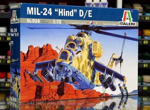 1:72 Mil MI-24 W HIND D - Radziecki Śmigłowiec Bojowy - Italeri 014